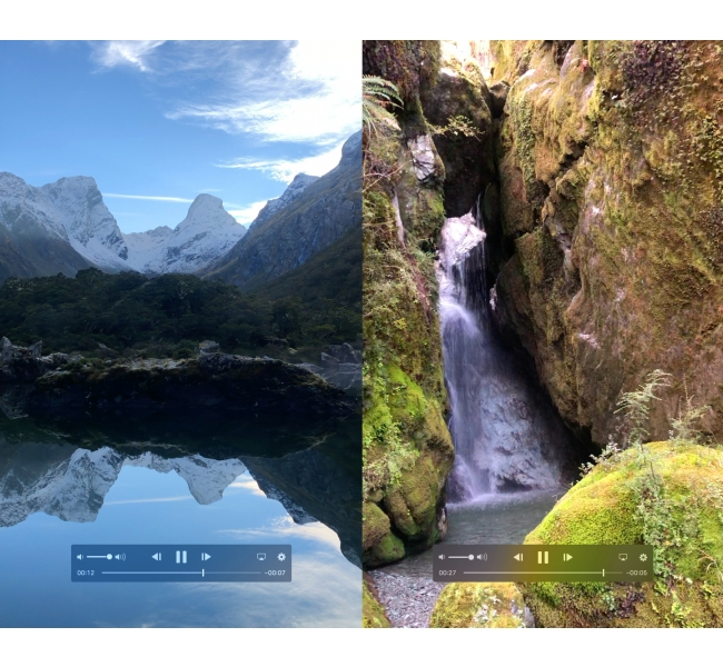 Routeburn boulder falls 2 videos pic